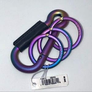 SOLD OUT RARE‼️COACH Iridescent 3 Ring Carabiner